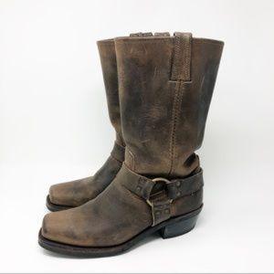 Frye Harness 12R brown, women's size 9 EUC